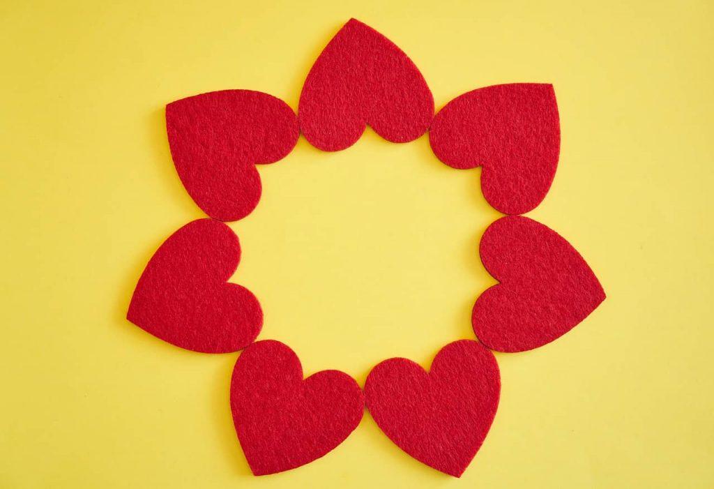romantic decor paper cut hearts