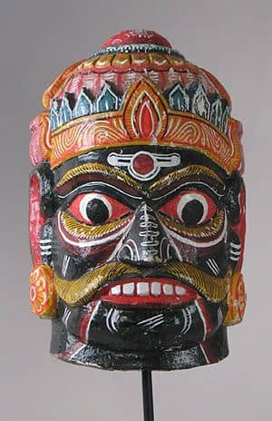 Indian wall mask